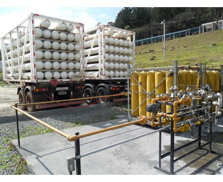 Locação de central de descompressão de gás natural